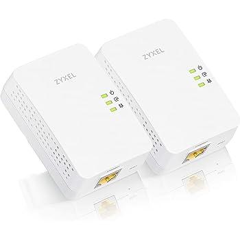 ZyXEL Powerline AV1200/1300 Ethernet Adapter 2-Pack PLA5405V2KIT