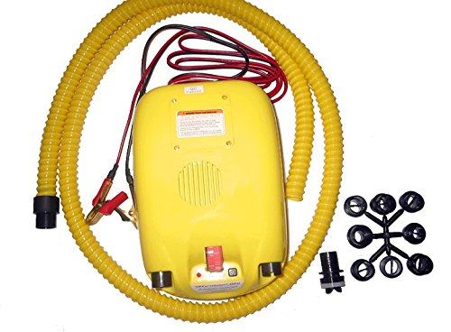 Portable 12V Electric Air Pump for Inflatable Boat, Inflatable Kayak and Canoe (No Battery)