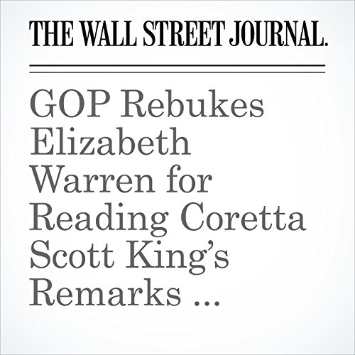 GOP Rebukes Elizabeth Warren for Reading Coretta Scott King's Remarks Criticizing Jeff Sessions copertina
