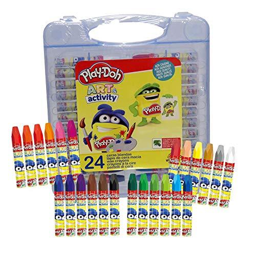 CYP BRANDS-24 24 Ceras Blandas en Caja de PVC Play Doh, Multicolor...