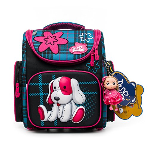 Delune Kids Backpack for Boys and Girls Primary Schoolbag - Individual/Waterproof/Orthopedic/Noble (A3-139)