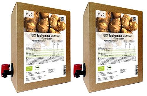 BIO Topinambur Muttersaft - 100% Direktsaft milchsauer fermentiert 6 Liter ( 2 x 3 Liter )