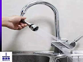 i bar_Water Saving Splash Filter Nozzle,Stainless Steel Turbo Flex 360 Degree Rotatory Flexible Sink Water Saving Faucet Nozzle Sprayer.