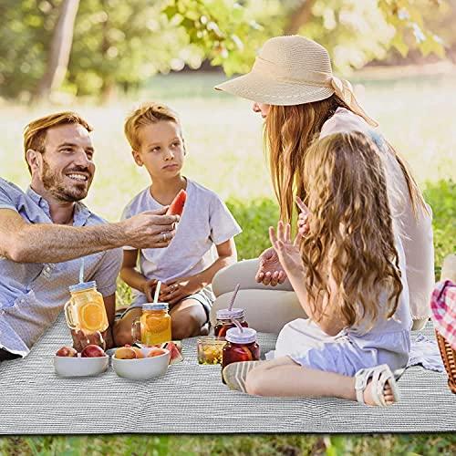 Buyup Esterilla de picnic plegable, cojín para asiento de exterior, impermeable, lavable, para tienda de campaña al aire libre