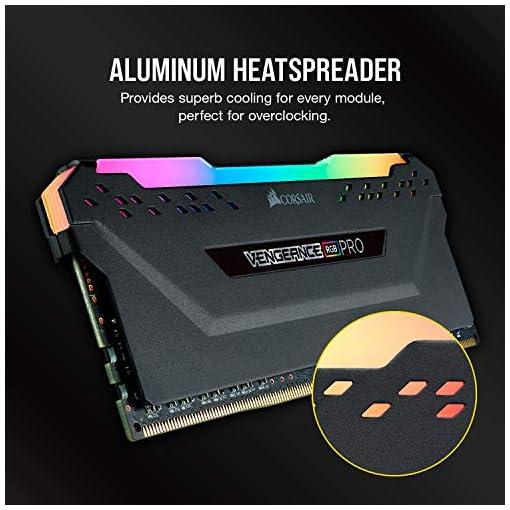 Corsair VENGEANCE RGB PRO 32GB, 2x16GB, DDR4 3200MHz C16 Módulos de Memoria de Adecuado Rendimiento, Negro 6