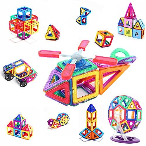 MONYX 176ピース デラックスセット マグネットブロック 磁石ブロック 知育玩具 パズル 国内製品検品 誕生日 クリスマス おもちゃ ギフト プレゼント (176 PCS)