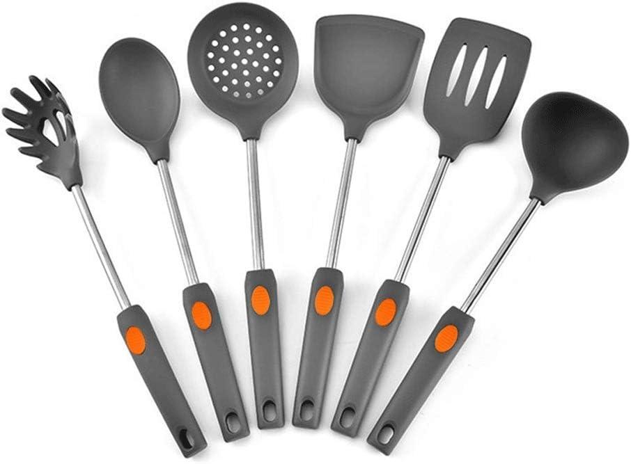 Limited price ZUQIEE Silicone Under blast sales Kitchenware 6 Cooking Pieces K Utensils