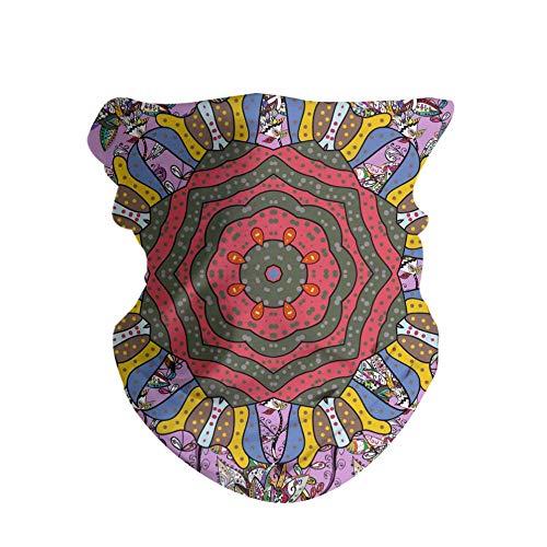 HAOZI 2 Pack 3D máscara de sol, polaina, gorro, pañuelo mágico, pañuelo bandana, pasamontañas, pesca con diadema, caza, trabajo en patio, correr, motociclismo, color Mariposa Verde, tamaño 50 CM x 25 CM