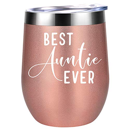 Aunt Gifts, Gifts for Aunt - BAE Best Auntie Ever - Aunt Gifts from Niece, Nephew - Aunt Birthday Gifts, Auntie Gifts - Aunt Gifts for Women, Great Aunt, Favorite Aunt - Coolife Aunt Cup Wine Tumbler
