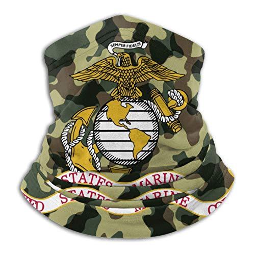 best& USMC US Marina Corps Veteranos Polaina de cuello de forro polar sin costuras, calentador de cara, máscara escudo bufanda pasamontañas bufandas bandanas