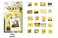 40ピース/ロット和紙紙の装飾DIY日記ステッカースクラップブッキングペーパークラフトDiyフレーク事務用品