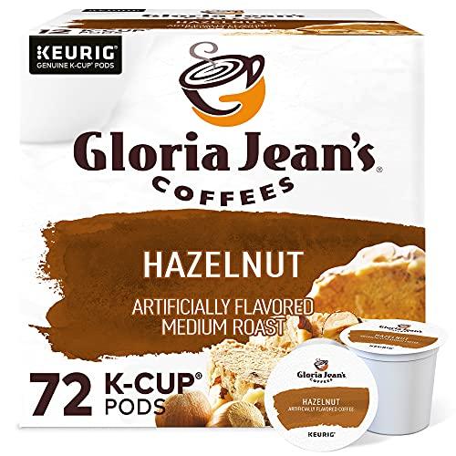 Gloria Jean's Coffees Hazelnut, Single-Serve Keurig K-Cup Pods, Flavored Medium Roast Coffee, 72 Count