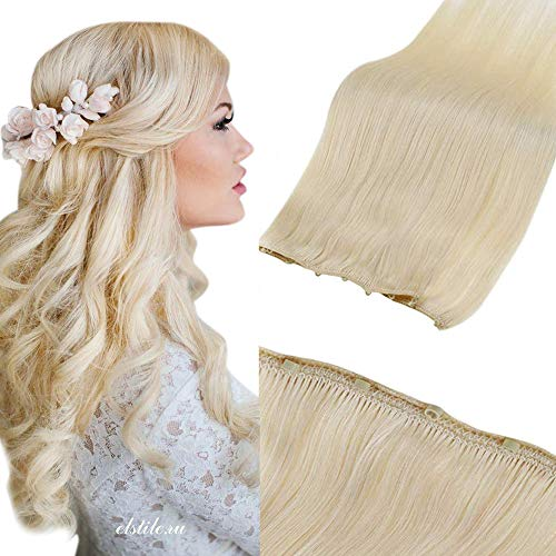 LaaVoo Micro Ring Hair Weft Extensions Platinum Blonde