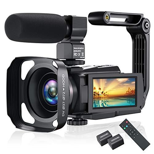 4K Video Camera Camcorder, Vlogg...