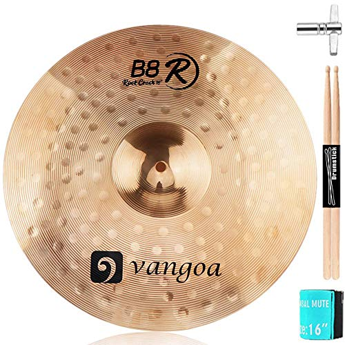 "Vangoa Crash Cymbal, 16"" B8 Crash Cymbal Kit for Drum Set, Bronze"