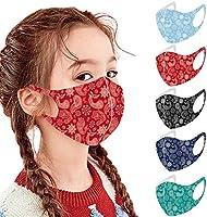 Jeeke Children's Breathable Face Protection, 5/10/ 30 Pcs Kids Reusable Washable Face Bandanas Dustproof Elastic...