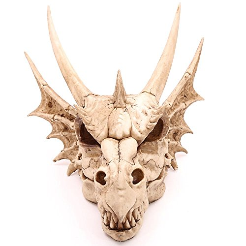XL Wanddeko Drachenschädel