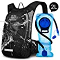Mothybot Hydration Pack, Insulated Hydration Backpack with 2L BPA Free Water Bladder and Storage, Hiking Backpack for Men, Women, Kids for Running, Cycling, Camping - Keep Liquid Cool up to 5 Hours