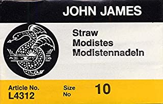 Colonial Needle 25 Count John James Milliners/Straw Uncarded Needles, Size 10 (L4312-10)