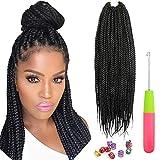 6 paquetes Senegalés Twist Crochet Hair 18 pulgadas Pequeña Habana Mambo Twist Trenzas De Ganchillo Extensiones de cabello trenzado sintético