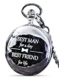 Best Man Gifts for Wedding I Best Man Proposal Gift -'Best Man for a Day' Pocket Watch I Best Man Gift I Will You Be My Best Man Gifts