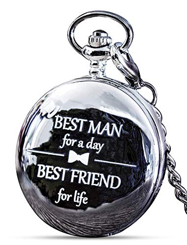 """Best Man Gifts for Wedding I Best Man Proposal -""""Best Man for a Day"""" Pocket Watch"""