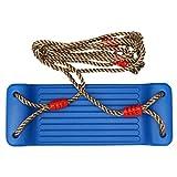 STOBOK Schaukelsitz Set Hängende Baumschaukeln Kunststoff Verstellbare Schaukel Spielzeug mit Seil Outdoor Sport Spielzeug Kinder Geschenk Blau