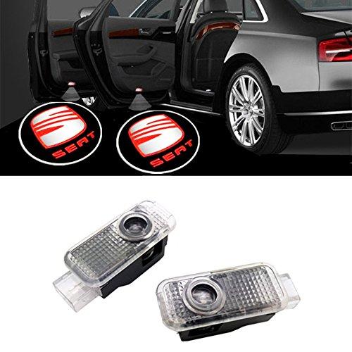 HUAYIN 2 Stück Autotür LED Logo Türbeleuchtung Einstiegsleuchte Projektion Licht