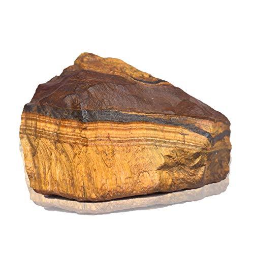 Real Gems Echter roher Tigerauge Stein 280 Karat Natürlicher ungeschnittener roher zertifizierter roher seltener Tigerauge Kristall Edelstein