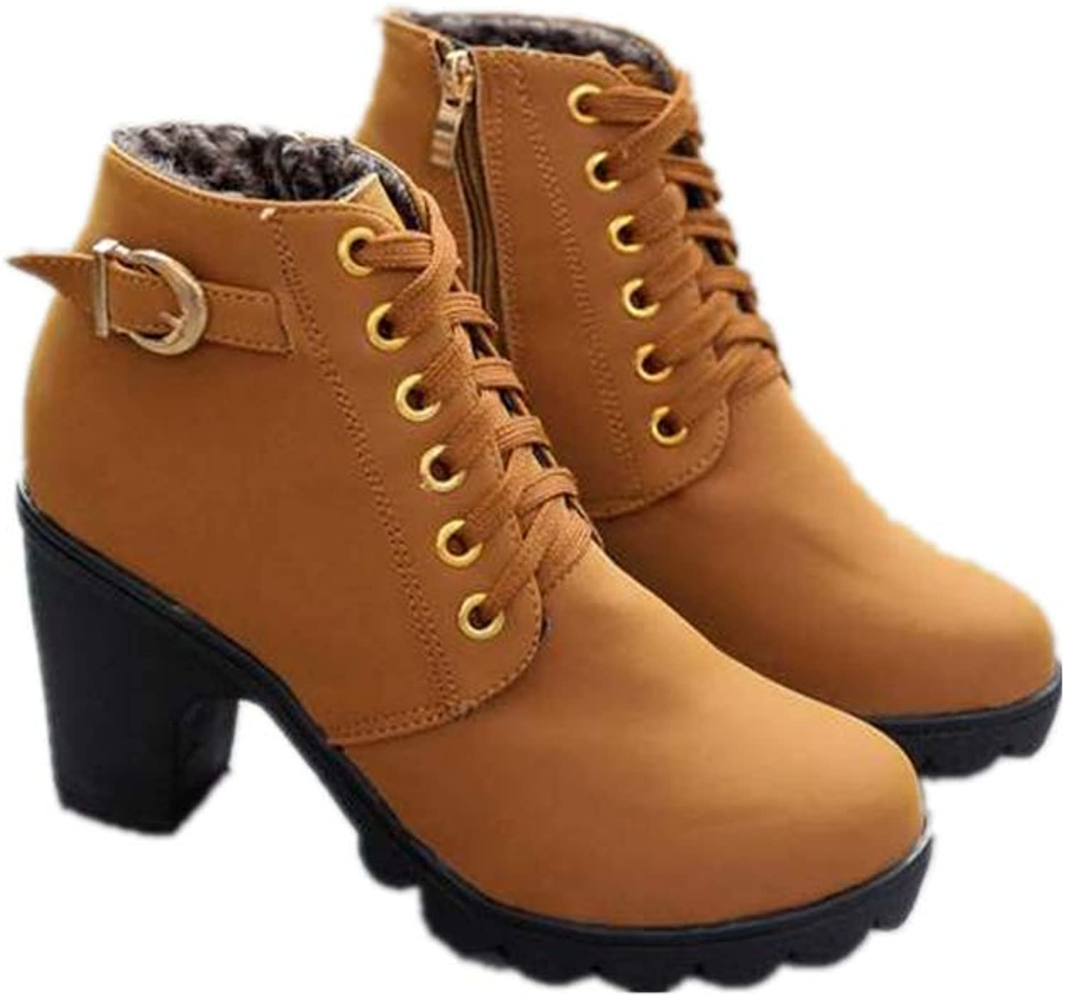 F1rst Rate Ankle Boots Women, Ladies Winter Dress Boots Zipper High Heels Booties shoes
