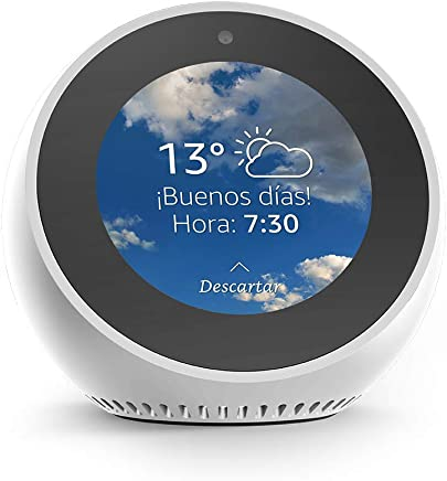 Amazon Echo Spot - Reloj despertador inteligente con Alexa, blanco