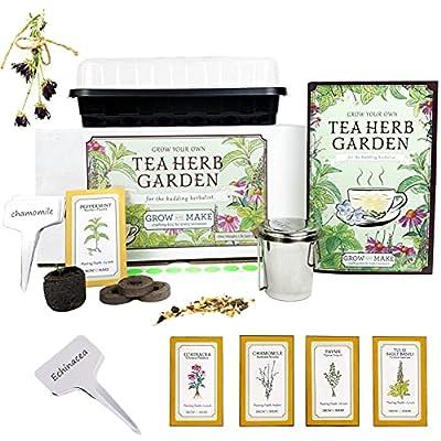 Tea Herbs Garden Kit - Start Your Garden Now - chamomile, lemon balm, horehound, calendula, anise