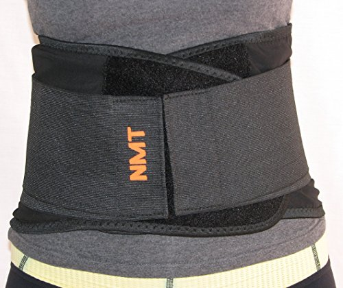 """Back Brace by NMT ~ Lumbar Support Black Belt ~ Posture Corrector ~ Arthritis, Pain Relief, Sciatica, Scoliosis ~ Physical Therapy for Women-Men ~ 4 Adjustable Sizes-'XXL' Fits Waist 45-50"""" (115-127cm"""