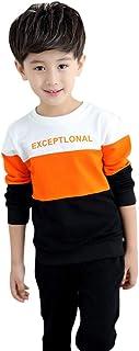 Juncai Hopscotch Boys Dacron T-Shirt and Pant Set in Orange Color