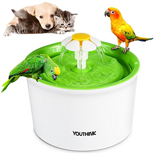 Cat Water Fountain Pet Fountain,1.6L Auto Water Dispenser Circulating Quiet...