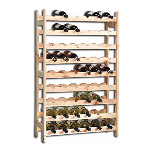 KESPER 9 Compartiment Système d'attaches pour Bouteille de vin, 73 x 27 x 120 cm, Beige