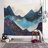 Tapices de Pared Naturaleza paisaje tapicería pared colgando estético hippie tapices de playa toalla chal hoja de tiro decoración de la habitación Tapices de Arte ( Color : Putty , Size : 95x73cm )