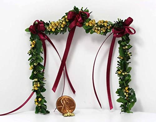 Artisan Max 63% OFF Burgandy Ribbon and Gold Doll Garland by Fireplace 70% OFF Outlet House