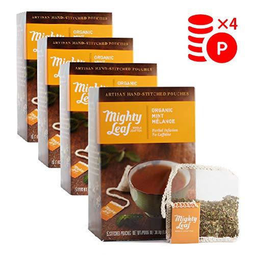 Mighty Leaf(マイティーリーフ) オーガニック ミント メレンゲ 4箱セット 【正規輸入品】