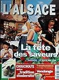 ALSACE (L') [No 5] du 01/10/1997 - LA FETE DES SAVEURS - LA ROUTE DES VINS - LA CHOUCROUTE - TRANSHUMANCE - VENDANGE - LE PASSE RECOMPOSE
