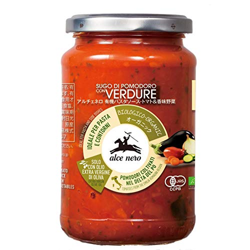 ALCE NERO(アルチェネロ) 有機 パスタソース トマト&香味野菜 350g (オーガニック イタリア産 添加物不使用 3~4人前)
