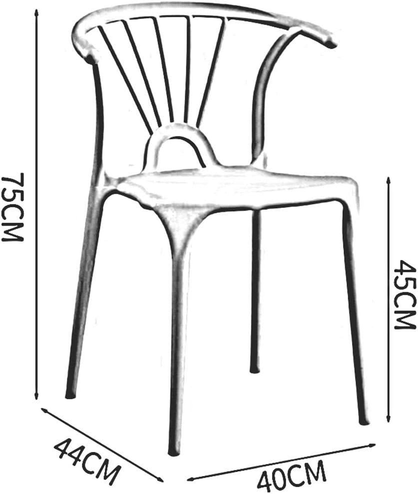 Ensemble De 2,Chaise De Salle à Manger en Plastique,Créatif De Mode,Chaise De Café De Dossier Nordique,Chaise De Table D'extérieur De Jardin,40X44X75 Cm(Color:T7) T12