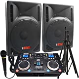 2000 Watts! - Complete DJ System - Everything you need to DJ - 12' Powered Speakers - Connect your Laptop, iPod via Bluetooth or play CD's!
