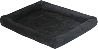 Mellifluous Small Size Dog and Cat Fur Pet Bed, Black