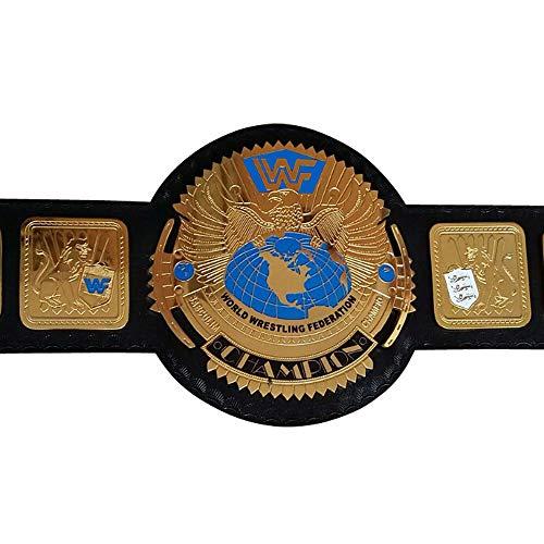House of Highland 77 WWF GRANDE EAGLE Attitude Era Wrestling Campionato Cintura Spessa Ottone Placcato Oro Nero Cinturino In Pelle