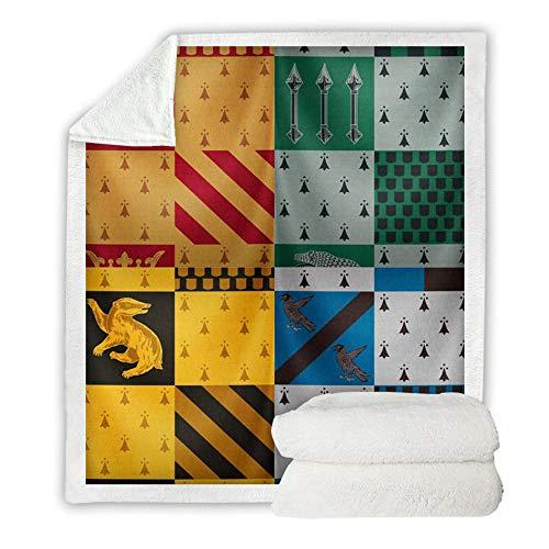 ZSTY Vier College-Square-Decken, quadratische Decken sind super weiche und mikro-Fleece-Wärme-Bettdecken, gebraucht für Schlafsofa-Wohnzimmer, Schlafzimmer,130 * 150cm