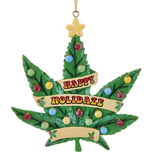 Kurt Adler Cannabis Happy Holidaze Standard