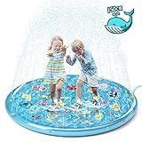 Jasonwell 噴水マット 150cm プレイマット 数字 噴水 家庭用プール 噴水池 親子 水遊び おもちゃ 男の子 女の子 夏対策 芝生遊び お庭プール こども 誕生日プレゼント パーティー 学園祭 お祭り