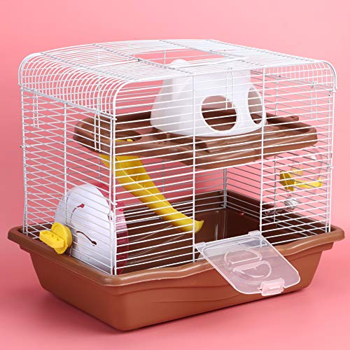 FOTABPYTI 【𝐏𝐫𝐨𝐦𝐨𝐜𝐢ó𝐧 𝐝𝐞 𝐒𝐞𝐦𝐚𝐧𝐚 𝐒𝐚𝐧𝐭𝐚】 Wiel Hamsterkooi Dubbellaags Hamsterkooi, Rustig Dierbenodigdheden Hamsterkooi, Suikerzweefvliegtuigen Fretten Vogels voor Hamsters