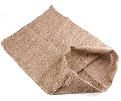 Tebery Jutesäcke 100 x 60 cm - 6er Set - Ökologische Säcke aus Naturfaser - 100% Jute - Strapazierfähig/Kartoffelsack/Frostschutz/Nikolaussack/Sackhüpfen